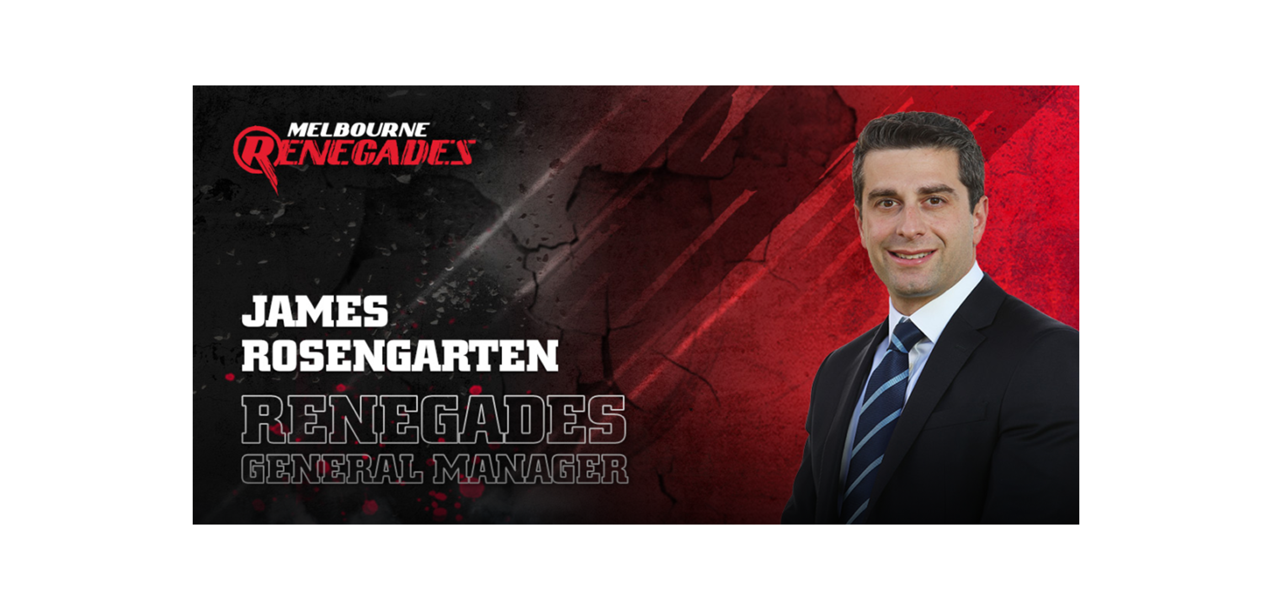 Melbourne Renegades: James Rosengarten appointed Renegades General Manager