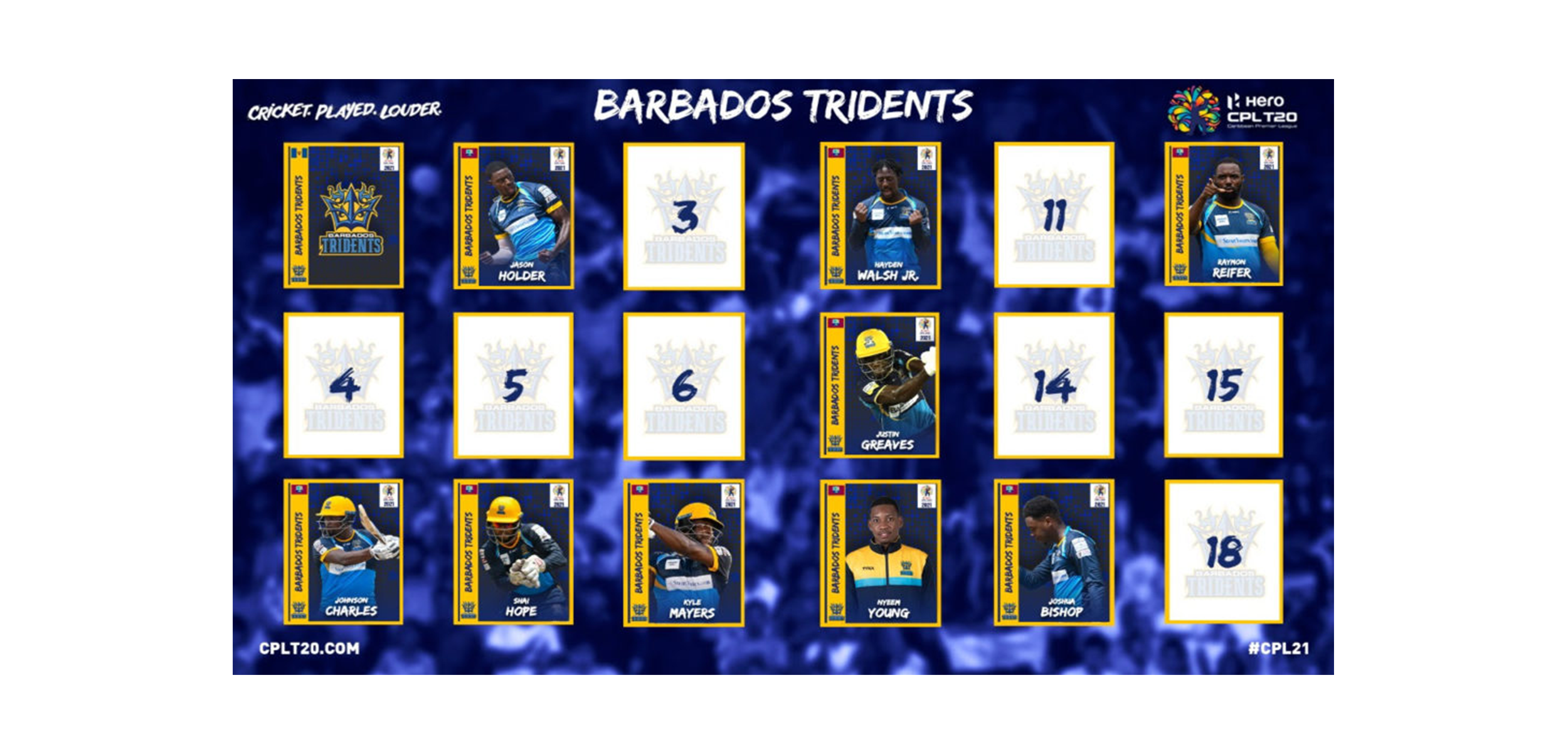 CPL: Barbados Tridents announce 2021 retentions