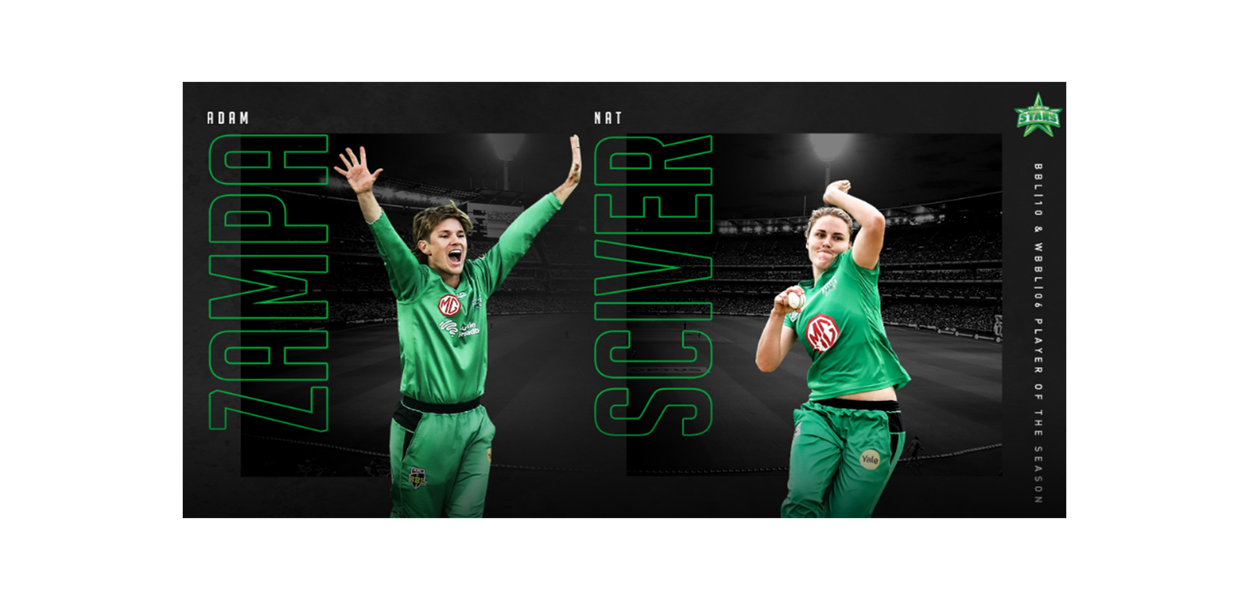 Zampa, Sciver take out Melbourne Stars Players of the Season awards