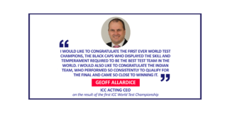 Geoff Allardice, ICC Acting CEO on the result of the first ICC World Test Championship