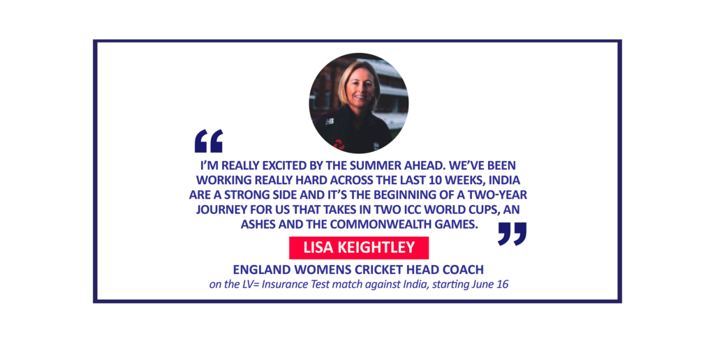 Lisa Keightley, England Womens Cricket Head Coach on the LV= Insurance Test match against India, starting June 16