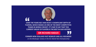 Sir Richard Hadlee, former New Zealand fast bowler and all-rounder on the Blackcaps' victory in the ICC World Test Championship
