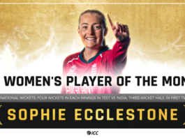 Conway and Ecclestone voted ICC Players of the Month for June