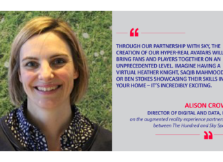 Alison Crowe, Director of Digital and Data, ECB on the augmented reality experience partnership between The Hundred and Sky Sports