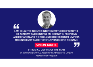 Simon Taufel, 5-time ICC Umpire of the year on partnering with ICC Academy to introduce its Umpire Accreditation Program