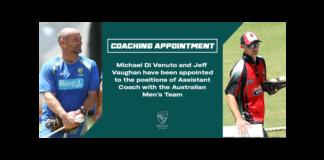 Cricket Australia: Di Venuto, Vaughan join Australian Men's Team coaching staff