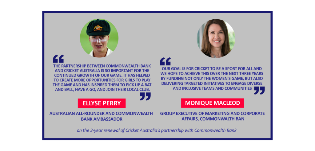 Ellyse Perry and Monique Macleod on the 3-year renewal of Cricket Australia's partnership with Commonwealth Bank