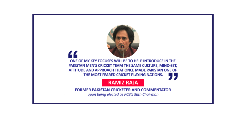Ramiz Raja, Former Pakistan Cricketer and Commentator upon being elected as PCB's 36th Chairman