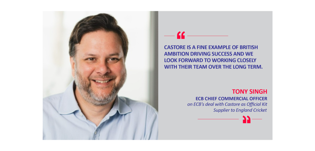 Tony Singh, ECB Chief Commercial Officer on ECB's deal with Castore as Official Kit Supplier to England Cricket
