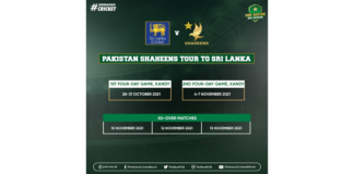 PCB: Pakistan Shaheens to tour Sri Lanka next month