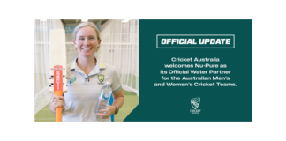 Nu-Pure announced as Cricket Australia's Official Water Partner