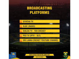 SLC: Broadcasting Platforms   South Africa tour of Sri Lanka 2021