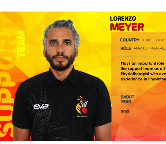 Cricket PNG: Lorenzo Meyer  Sport Physiotherapist