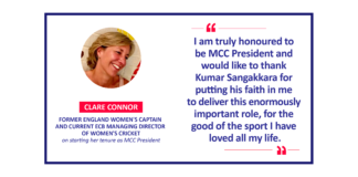 Clare Connor, former England Women's Captain and current ECB Managing Director of Women's Cricket on starting her tenure as MCC President