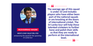 Muhammad Wasim, Men's Chief Selector, PCB announcing the squad for the upcoming Sri Lanka tour