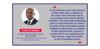 Pholetsi Moseki, Acting Chief Executive, Cricket South Africa on CSA's new 3-year apparel and merchandising partnership with Castore