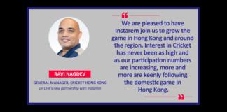 Ravi Nagdev, General Manager, Cricket Hong Kong on CHK's new partnership with Instarem